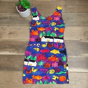 Jams World Hawaiian mini sheath dress size 9